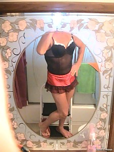 Close up shots of crossdressers in garter belts