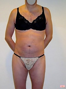 This crossdressing slut has some gorgeous lingerie to show off